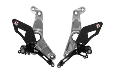 rearset silver/black Ducabike for Ducati Monster 1200R – Image 1
