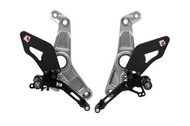 rearset silver/black Ducabike for Ducati Monster 1200R – Image 1