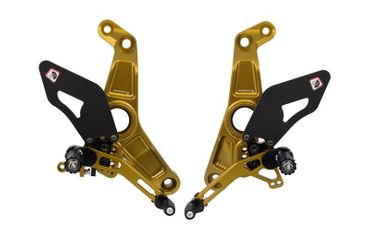 Kit repose pieds or/or Ducabike pour Ducati Monster 1200 R – Image 1