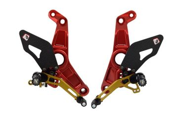 rearset red/gold Ducabike for Ducati Monster 1200 R – Image 1