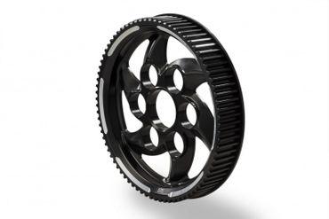 Riemenrad schwarz / silber CNC Racing für Ducati XDiavel – Bild 1