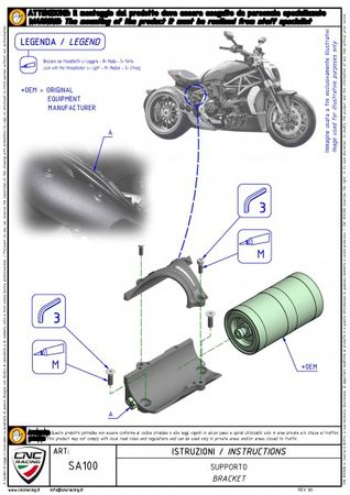 Federbein Ausgleichsbehälter Halter silber CNC Racing für Ducati XDiavel – Bild 4