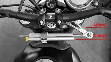 Collier Ohlins argent CNC Racing pour Ducati Scrambler  – Image 2