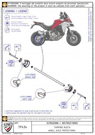 Achsprotector Hinterrad rot CNC Racing für Ducati Multistrada, Panigale – Bild 3