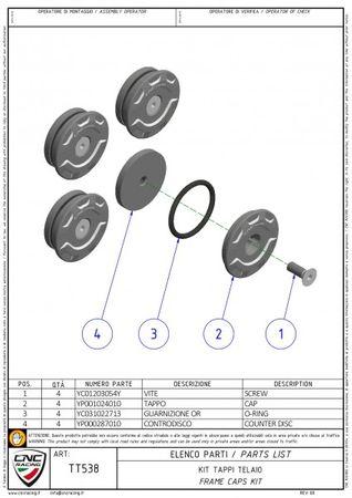 Rahmenstopfen Kit silber CNC Racing für Ducati XDiavel  – Bild 3