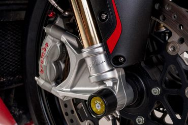 shaft guard frontwheel gold CNC Racing for MV Agusta – Image 2