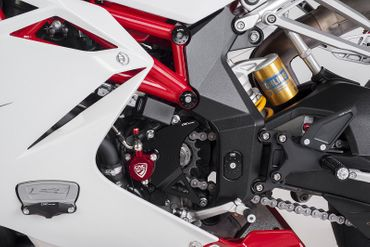 frame cap kit red CNC Racing for MV Agusta – Image 2