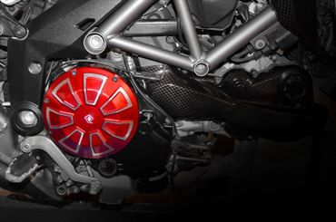 clutch cover red Ducabike for Ducati SBK, Streetfighter, Monster, Hypermotard, Multistrada – Image 2