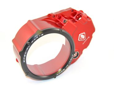 Clutch cover for oil bath clutch red/black Ducabike for Ducati Monster 1100 EVO – Image 2
