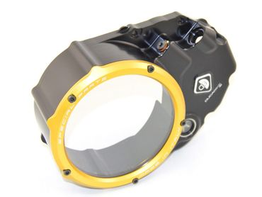 Clutch cover for oil bath clutch black/gold Ducabike for Ducati Monster 1100 EVO – Image 2