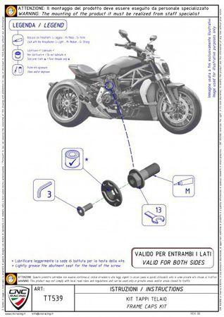 cache douilles trousse noir/argent CNC-Racing pour Ducati XDiavel – Image 4