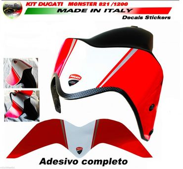 "Autocollant le garde-boue ""Monster 1200R"" design pour Ducati Monster 821 1200 – Image 1"