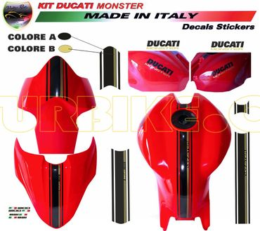 Autocollant central strips pour Ducati Monster 821 / 1200