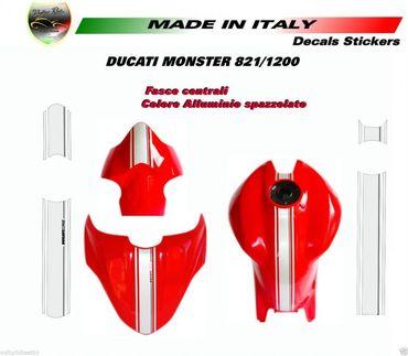 adesivi fascia titanio spazzolato per Ducati Monster 821 / 1200  – Image 1