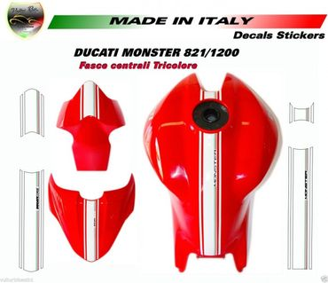 adhesive strips tricolore for Ducati Monster 821 / 1200