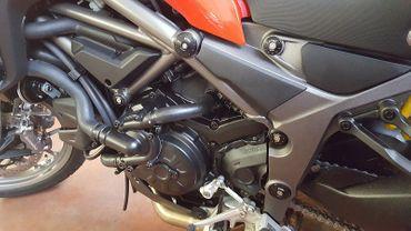 frame caps kit red CNC Racing for Ducati Multistrada 950 – Image 2