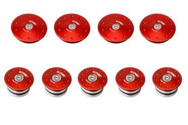 frame caps kit red CNC Racing for Ducati Multistrada 950 – Image 1