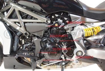 Revêtement cadre gauche en carbone mate pour Ducati XDiavel – Image 5