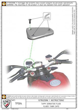 """Couvercle de récipient à liquide """"Touch"""" or CNC Racing pour Ducati Multistrada, Streetfighter  – Image 5"""