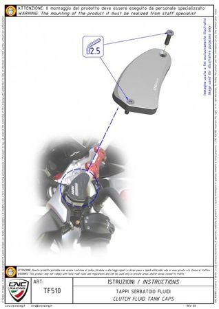 """Flüssigkeitsbehälterdeckel """"Touch"""" schwarz CNC Racing für MV Agusta – Bild 5"""
