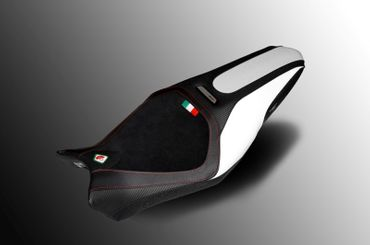 seat cover black/silver Ducabike for Ducati Monster 1200 R