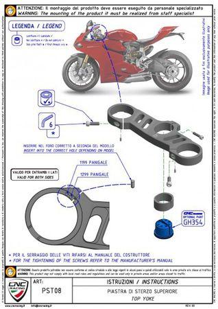 Gabelbrücke Ø 57 mm silber CNC Racing für Ducati Panigale – Bild 3