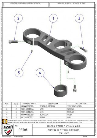 Gabelbrücke Ø 57 mm silber CNC Racing für Ducati Panigale – Bild 2