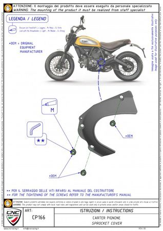 carter chaine ergal rouge CNC Racing pour Ducati Hypermotard, Hyperstrada, Monster, Scrambler – Image 3