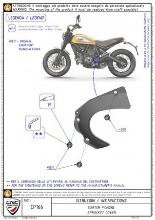 carter chaine ergal noir CNC Racing pour Ducati Hypermotard, Hyperstrada, Monster, Scrambler – Image 3