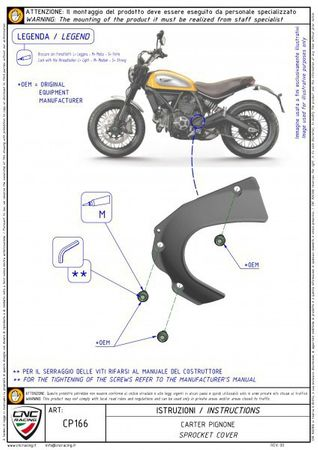 carter chaine ergal or CNC Racing pour Ducati Hypermotard, Hyperstrada, Monster, Scrambler – Image 3