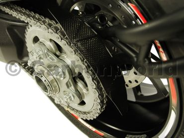 rear chain guard carbon mat for Ducati Diavel – Image 3