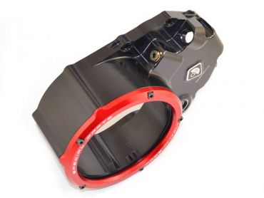 Clutch cover for oil bath clutch black/red Ducabike for Ducati Hypermotard 939, Multistrada 950 – Image 2