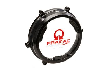 Clear oil bath clutch cover Carbon Pramac Racing Lim. Ed. black CNC Racing for Ducati Panigale 959 / 1199 / 1299 – Image 1