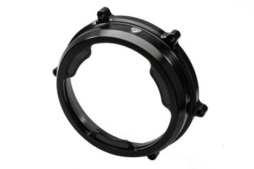 Clear oil bath clutch cover Carbon black CNC Racing for Ducati Panigale 959 / 1199 / 1299 – Image 1