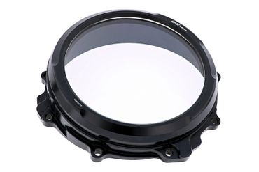 Clear oil bath clutch cover black CNC Racing for MV Agusta  – Image 1