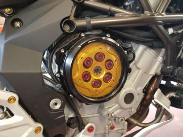 Clear oil bath clutch cover black CNC Racing for MV Agusta  – Image 4