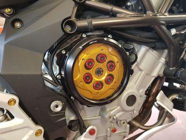 Carter trasparente per frizioni ad olio nero CNC Racing per MV Agusta – Image 4