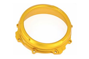Clear oil bath clutch cover gold CNC Racing for MV Agusta  – Image 1