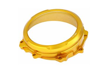 Clear oil bath clutch cover gold CNC Racing for MV Agusta  – Image 2