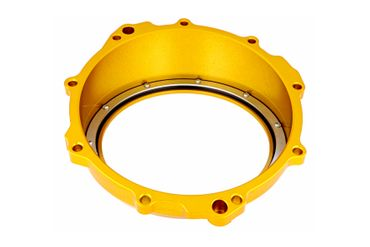 Clear oil bath clutch cover gold CNC Racing for MV Agusta  – Image 3