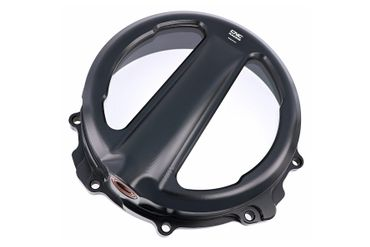 Clear oil bath clutch cover with coupling cable black CNC Racing for MV Agusta  – Image 1
