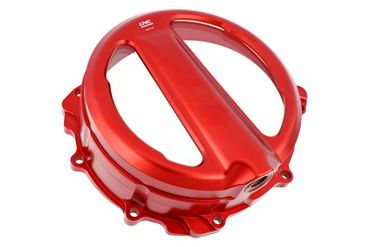 Couvercle d'embrayage Clear rouge CNC Racing pour MV Agusta  – Image 2