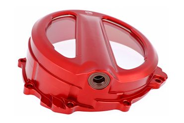 Couvercle d'embrayage Clear rouge CNC Racing pour MV Agusta  – Image 3