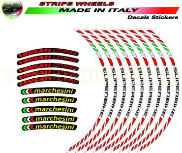 "decal sticker kit wheel stripes sticker ""Superbike"" for Ducati – Image 2"
