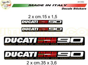 """Aufkleber """"90 Jahre"""" für Ducati"""