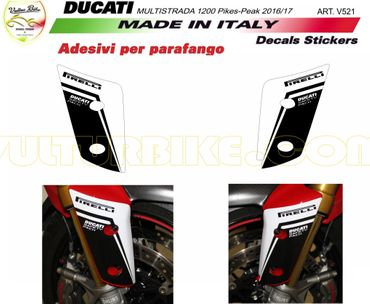 Autocollant le garde-boue pour Ducati Multistrada 1200 Pikes Peak (2016-2017)