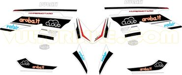 "Stickers Kit ""Martini Racing"" pour Ducati Hypermotard 821/939 – Image 2"