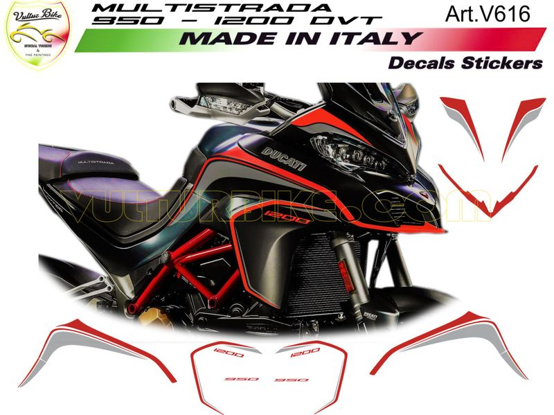 Details About Stickers Kit For Ducati Multistrada 9501200 Dvt
