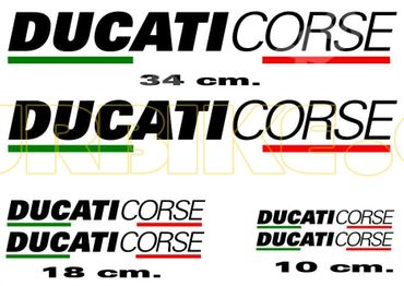 "sticker kit ""Ducati Corse black"" for Ducati"