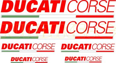 "sticker ""Ducati Corse red"" for Ducati"